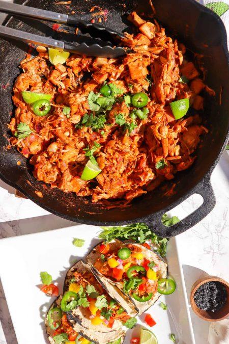 Delicious Vegan BBQ Pulled Jackfruit Tacos gfb