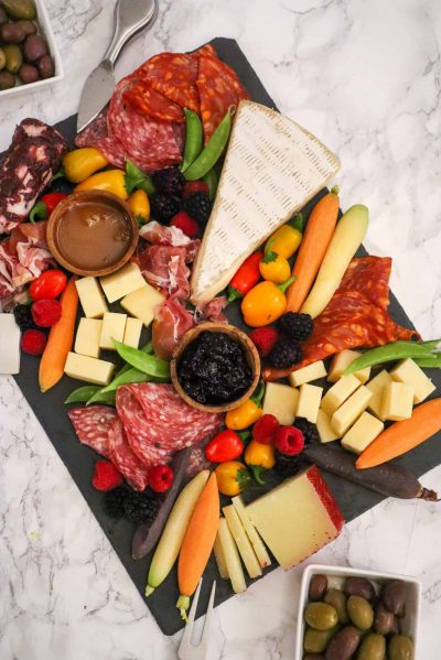 charcuterie board by goodfoodbaddie