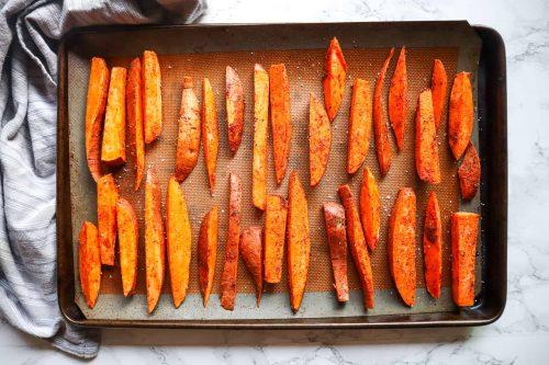 fries before baking