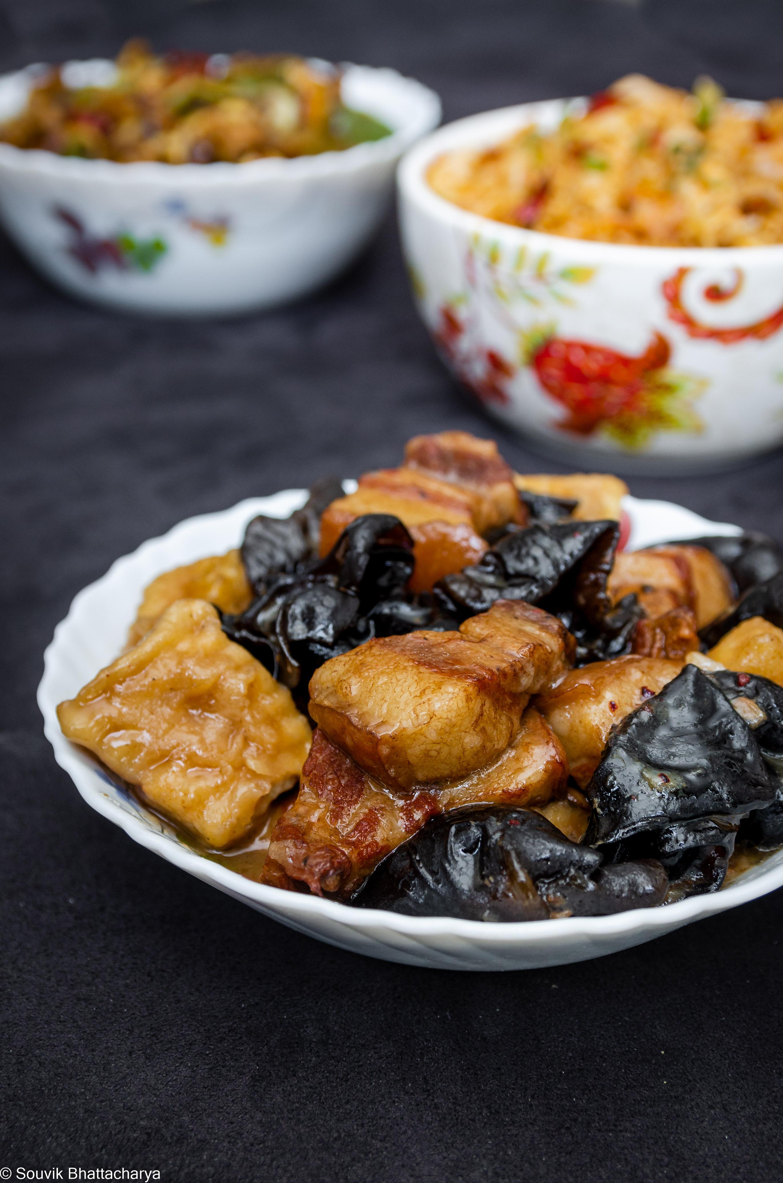 Mun Tofu or Moon Pork Tofu at Royal Jade Kolkata