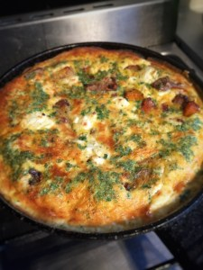 Roast Veg and Chicken Frittata