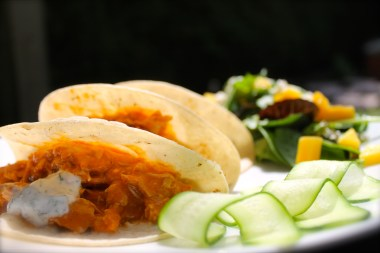 Pulled Butter Chicken Tacos