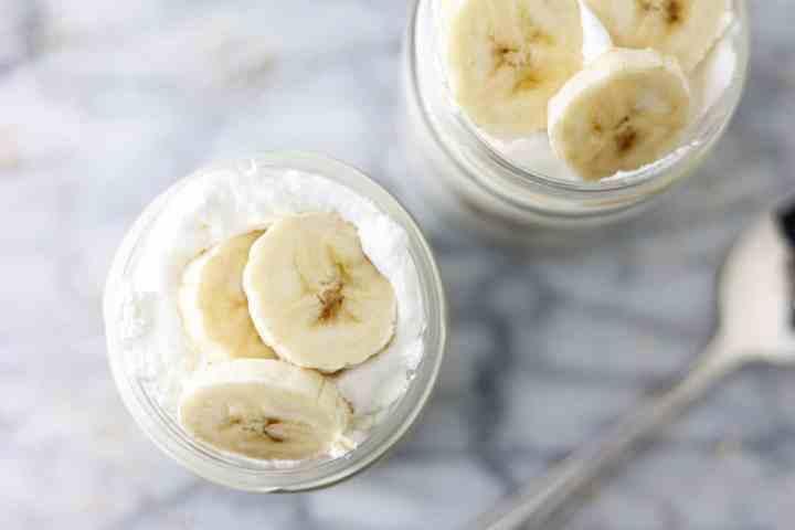 plant based banana pudding