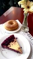 red velvet pie and pandan glazed doughnut