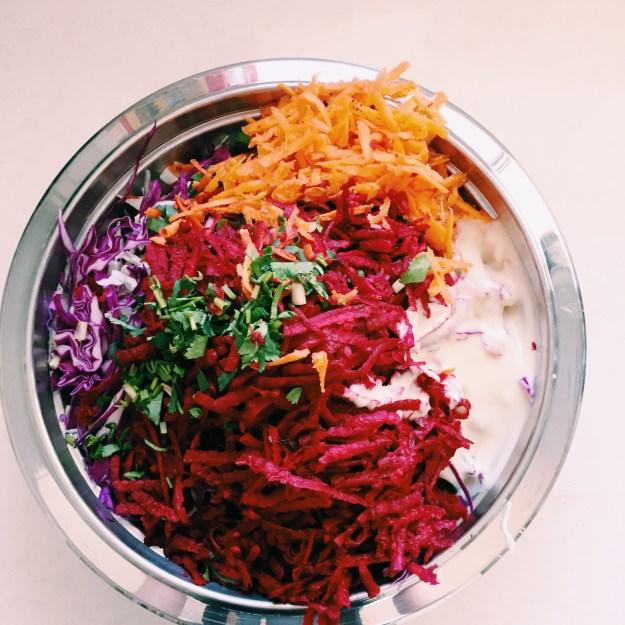GoodFoodWeek's beetroot coleslaw