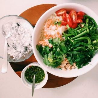 Marley Spoon's Softshell crab with green papaya salad