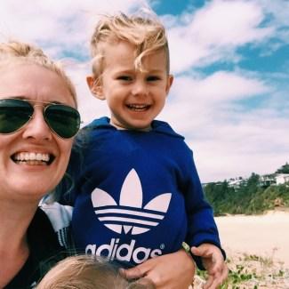 Mummy and Mr Moo at the coast