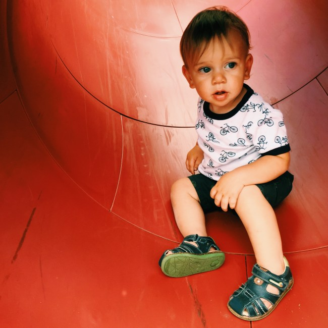 The Little Dude at the park