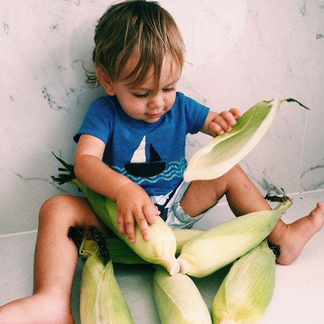The Little Dude and Corn
