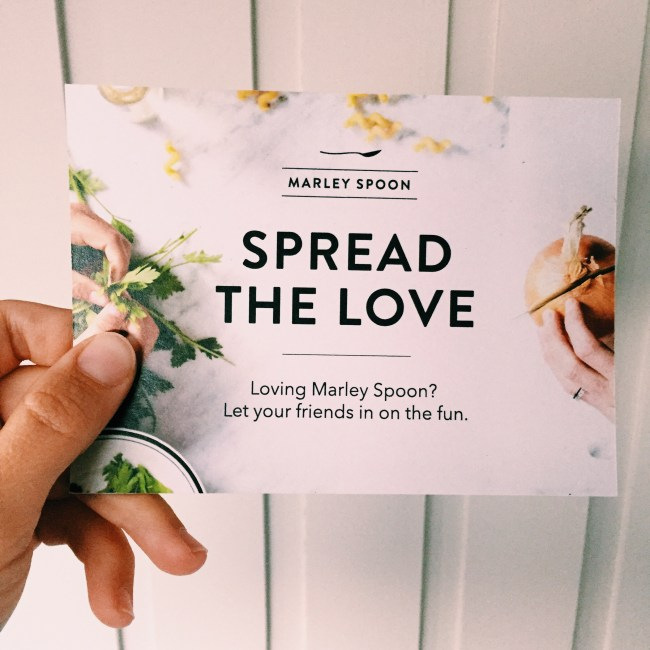 Spread the love with Marley Spoon