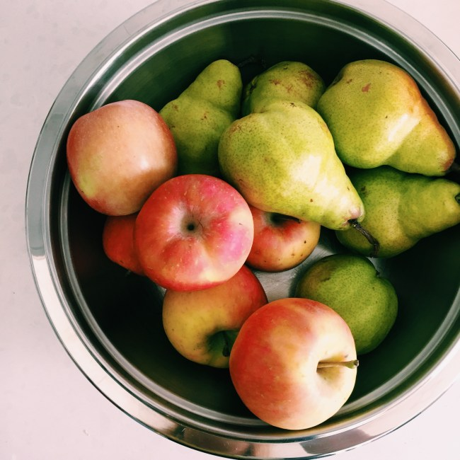 Apple and Pears from the Capital Region Farmers Market