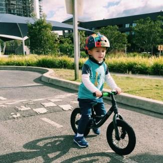Mr Moo riding his bike at the Sydney Bike Park