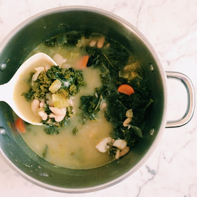 GoodFoodWeek's ling, white bean and kale soup