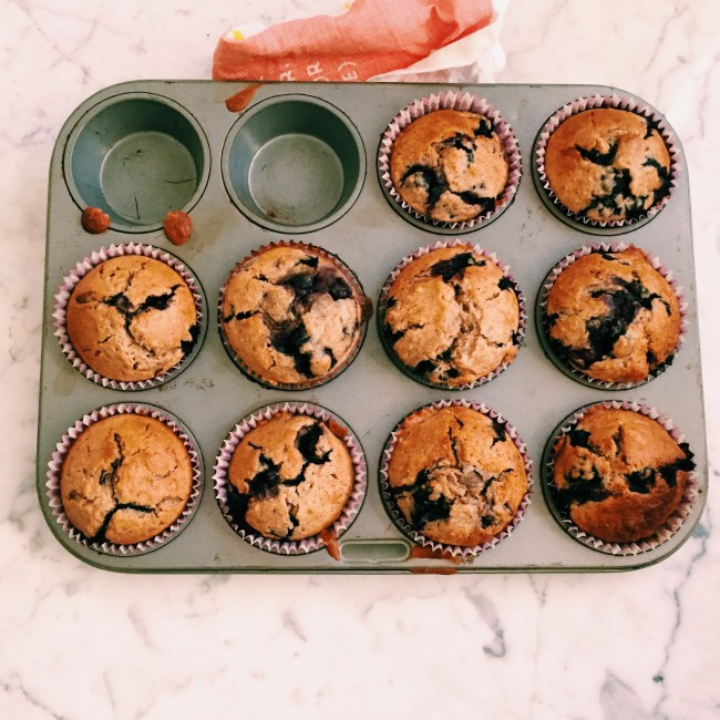 GoodFoodWeek's healthy blueberry muffins