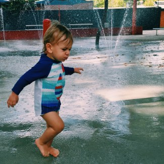 The Little Dude at Dickson Pool
