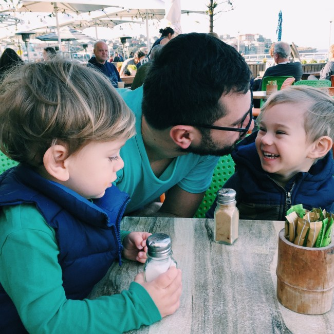 Mr Moo and Daddy in Bondi