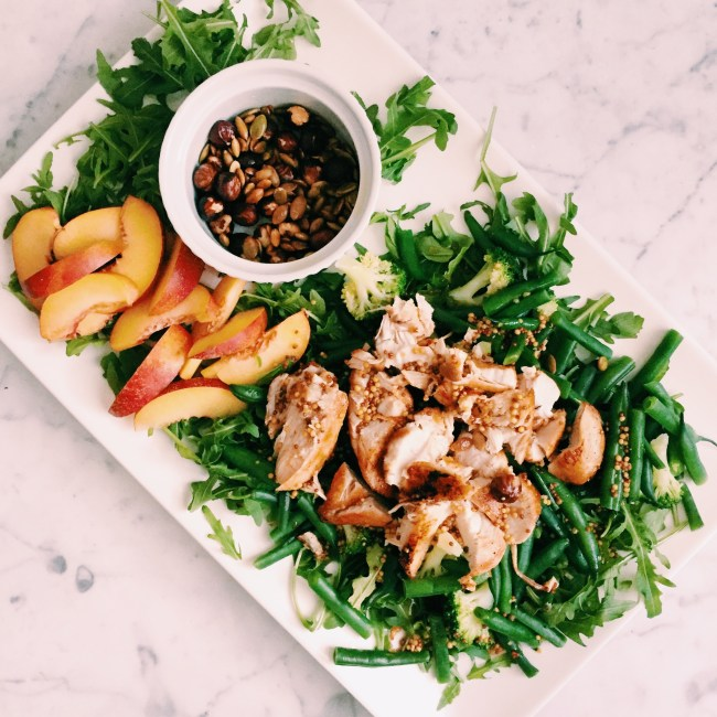 GoodFoodWeek's Chicken and nectarine salad