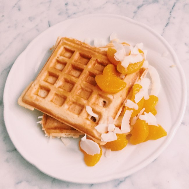 Recipe: Citrus and coconut waffles