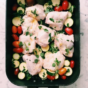 Recipe: Chicken cutlet sheet pan dinner