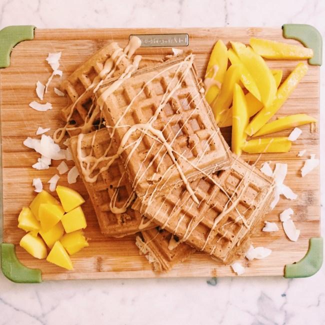 Mango waffles
