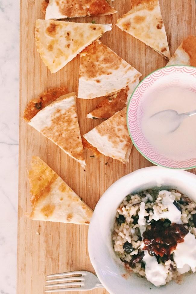 Recipe: Quick Mexican Rice and Quesadillas