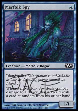 Merfolk Spy with Jace written on it