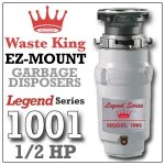 Waste King Legend Series ½ HP Continuous Feed Garbage Disposal with Power Cord – (L-1001) Reviews