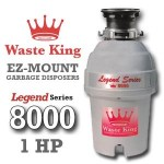 Waste King Legend Series 1 HP Continuous Feed Garbage Disposal with Power Cord – (L-8000) Reviews