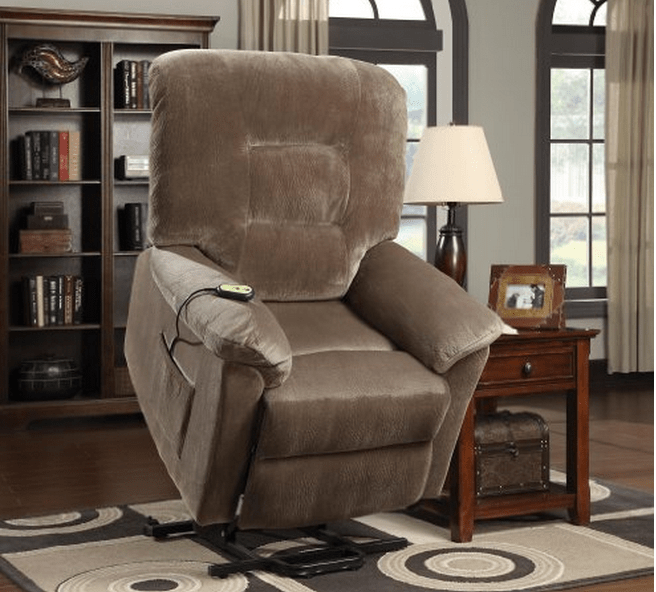 medical recliner chairs fabric scoop back dining power lift and recliners - good gifts for senior citizens