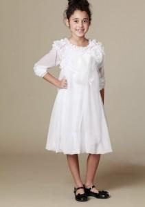 Feestjurken voor meisjes_KidCuteTure_Chantel dress in white_kerstjurkjes voor meisjes 2014