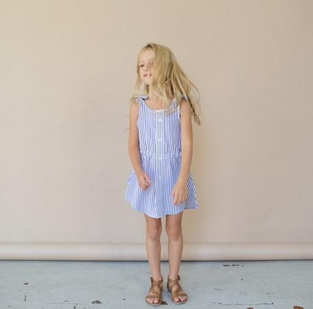 Kallio NYC_Tie Dress_vintage clothes for kids_meisjeskleding_duurzaam_eco_goodgirlscompany