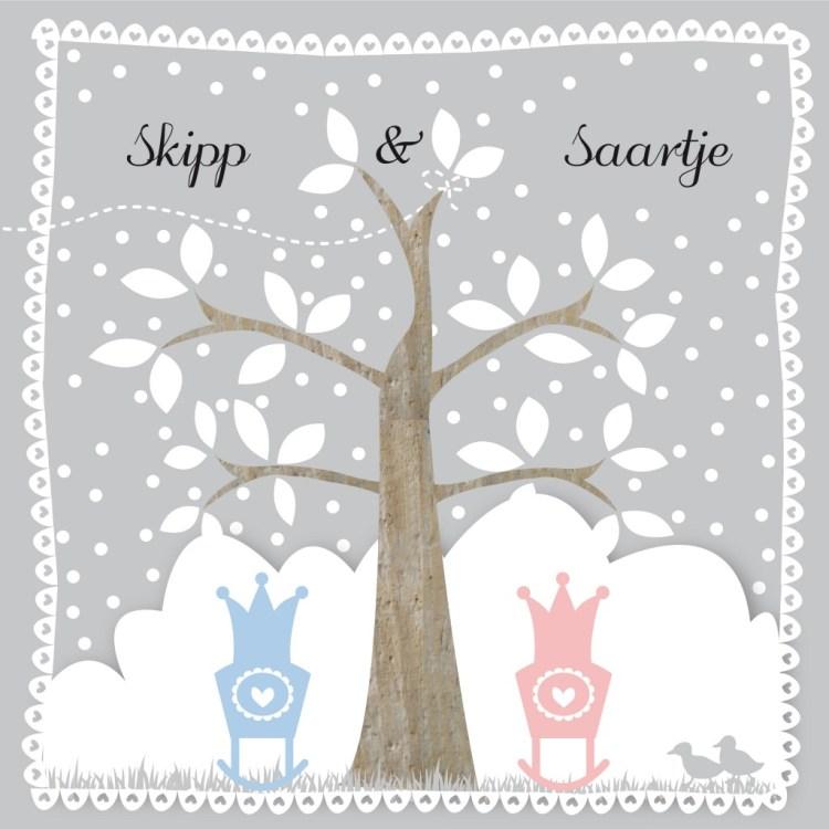Tsjip Geboortekaartjes- tweeling- zelf geboortekaartjes maken-GoodGirlsCompany