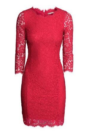 Valentijnsdag 2015_kanten rode HM jurk