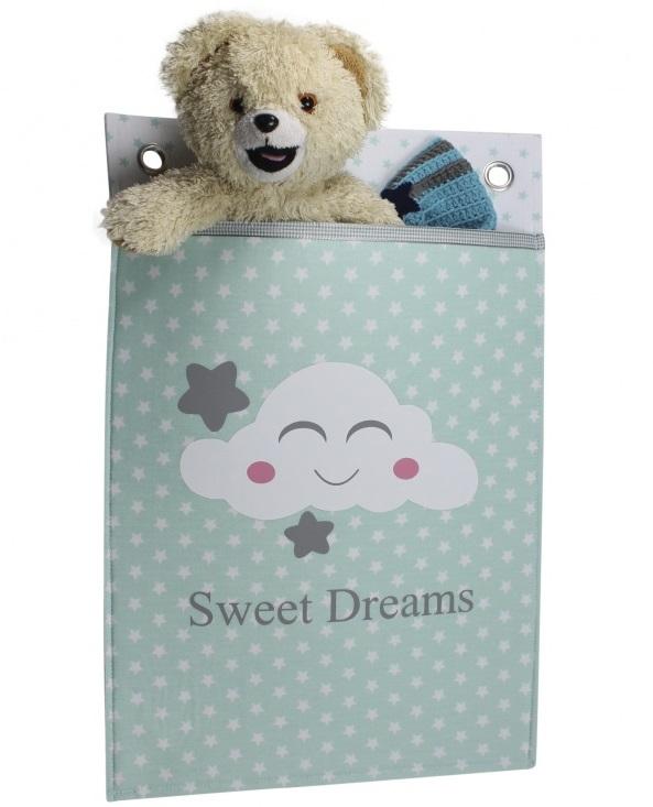 Roozje-wandzak-boxzak-mint-mintgroen voor de babykamer