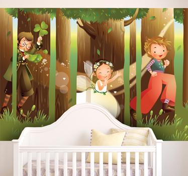 Win-een-muursticker-van-Tenstickers-magisch-bos-muurstickers-voor-kinderkamer