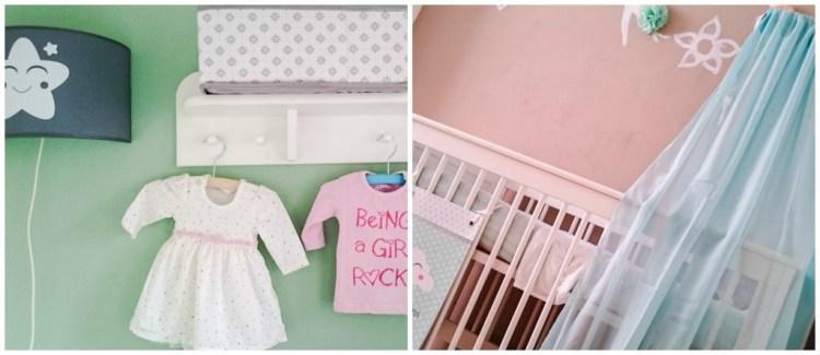 Babykamer-Binnenkijken bij GoodGirlsCompany-mintgroene en grijze babykamer