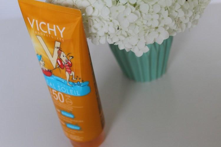 Vichy Idéal Soleil Kind SPF50- Ervaringen Vichy Idéal Soleil Kind SPF50-GoodGirlsCompany-zonnebrandmelk zonder parabenen