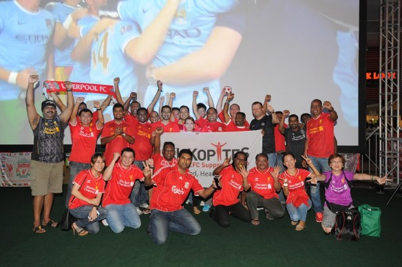The Kl-Kopites come in full force to support Liverpool FC at Carlsberg's BPL Finale Viewing Party.