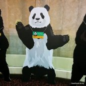 Panda Cardboard Cutout. Measure your height against the Giant Panda