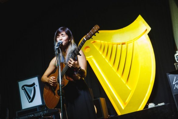 Singer-songwriter Talitha Tan, performing at The Bee
