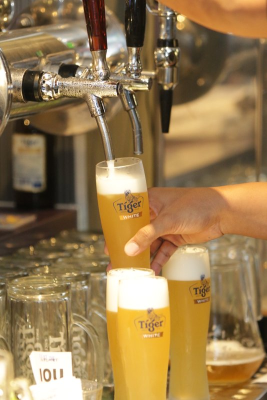 Tiger White is now available on draught
