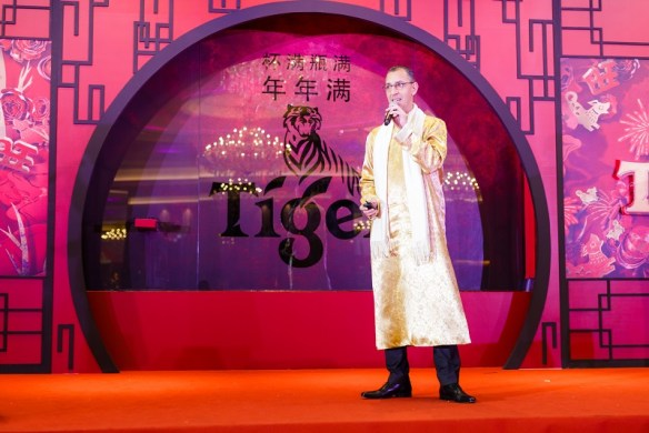 HEINEKEN Malaysia MD Hans Essaadi addressing the guest during Tiger CNY 2018 Media Launch