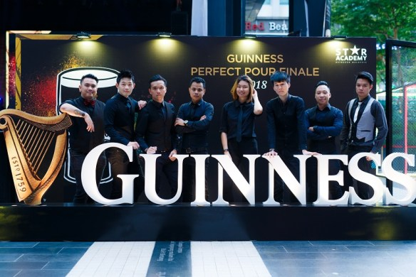 The eight finalists during the Guinness Perfect Pour Finale event at The Square, Publika