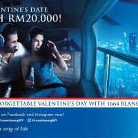 Win A FREE Unforgettable Valentine's Date Worth RM20,000 With Kronenbourg 1664 Blanc