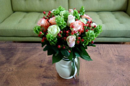Rose & berry arrangement