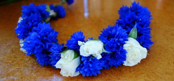 Cornflower crown