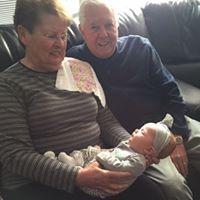 Grandma Connie and Grandpa Bob with Raegan