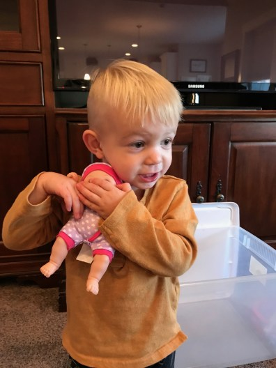 Jude and his new baby doll