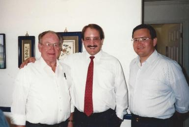 Dad, Roger, and me