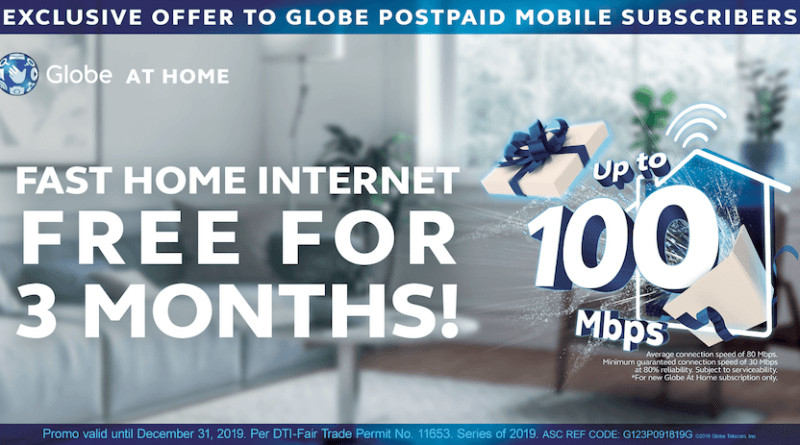 Free Globe at Home GoUNLI Plans Internet for Globe Postpaid Mobile Customers | Good Guy Gadgets